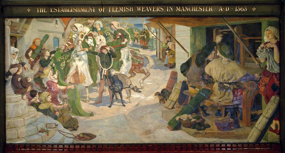 1363. The Establishment of the Flemish Weavers in Manchester.jpg