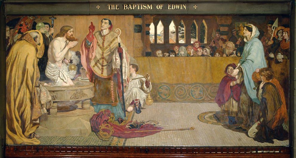 627. Cartoon for the Baptism of Edwin (c. 585-633) King of Northumbria and Deira.jpg