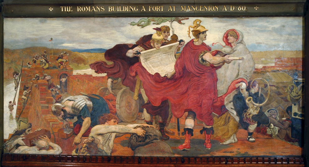 80. The Romans Building a Fort at Mancenion.jpg