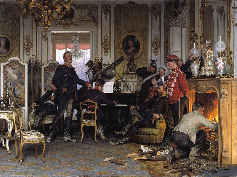 Im Etappenquartier vor Paris (A Billet Outside Paris; 1894).jpg