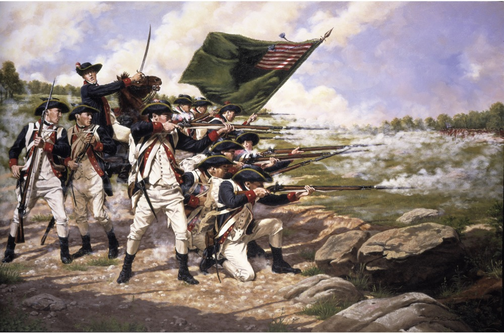 1776. The Delaware Regiment at the Battle of Long Island.jpg