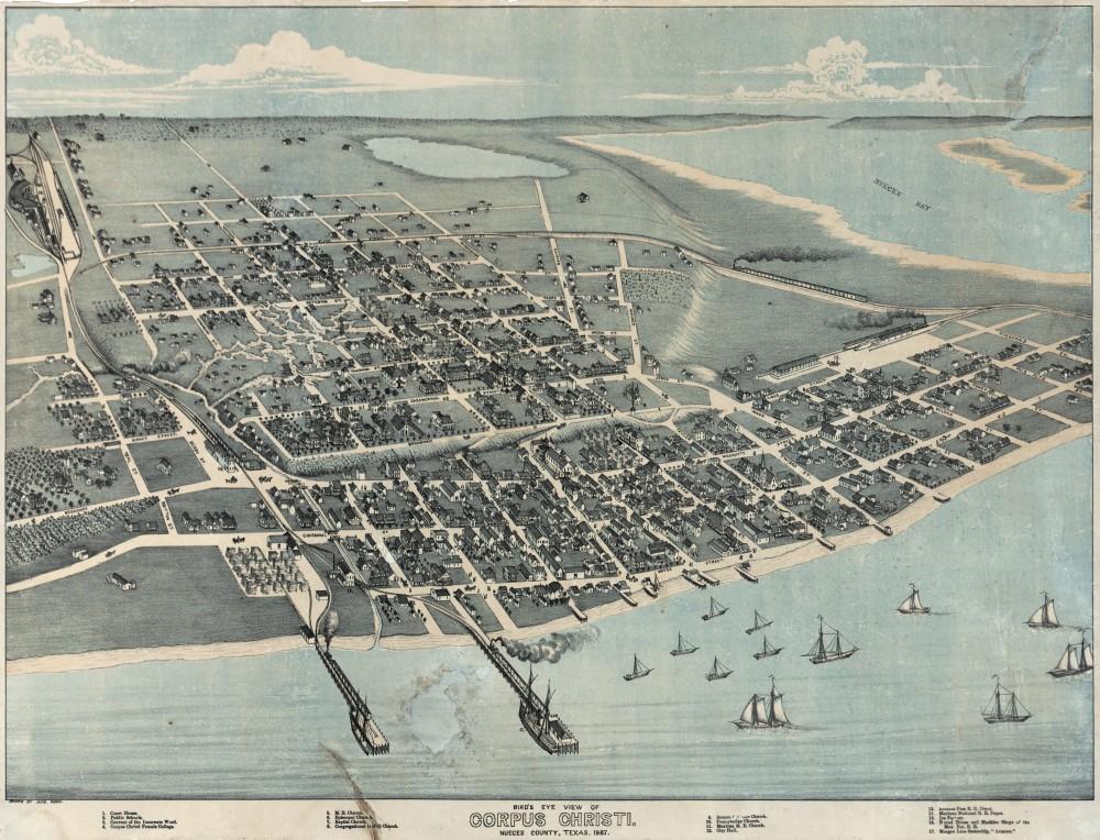 1887. Bird's Eye View of Corpus Christi. Nueces County, Texas.jpg