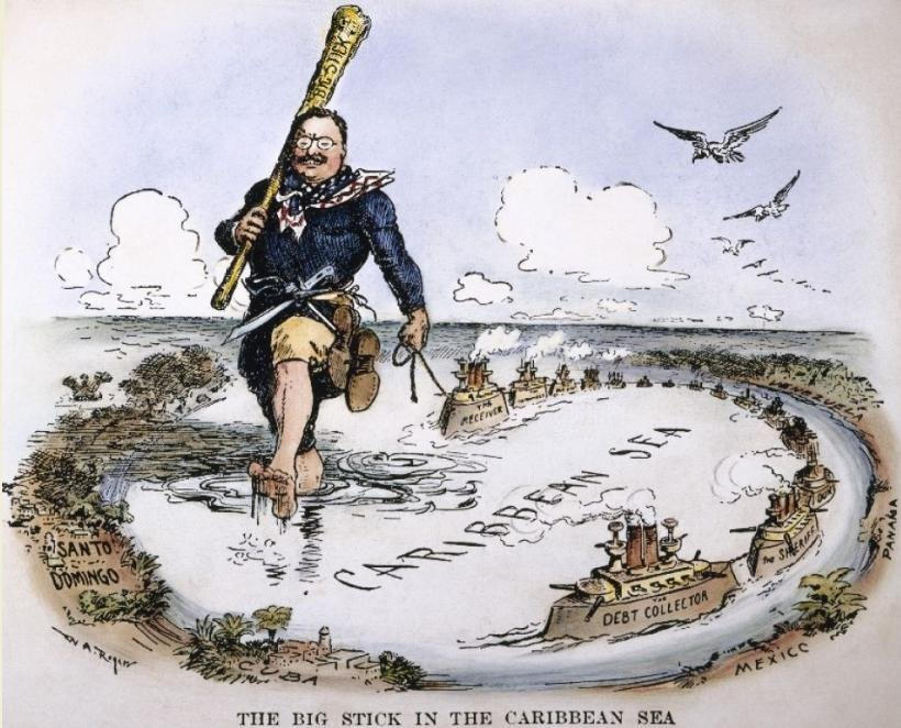 1904. Theodore Roosevelt and his Big Stick in the Caribbean.jpg