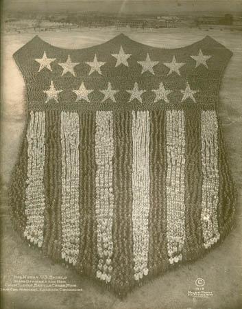 1918. The Human U.S. Shield, 30.000 Mens at Camp Custer, Michigan.jpg