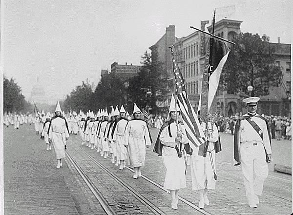 1928. Ku Klux Klan members march down Pennsylvania Avenue in Washington, D.C..jpg