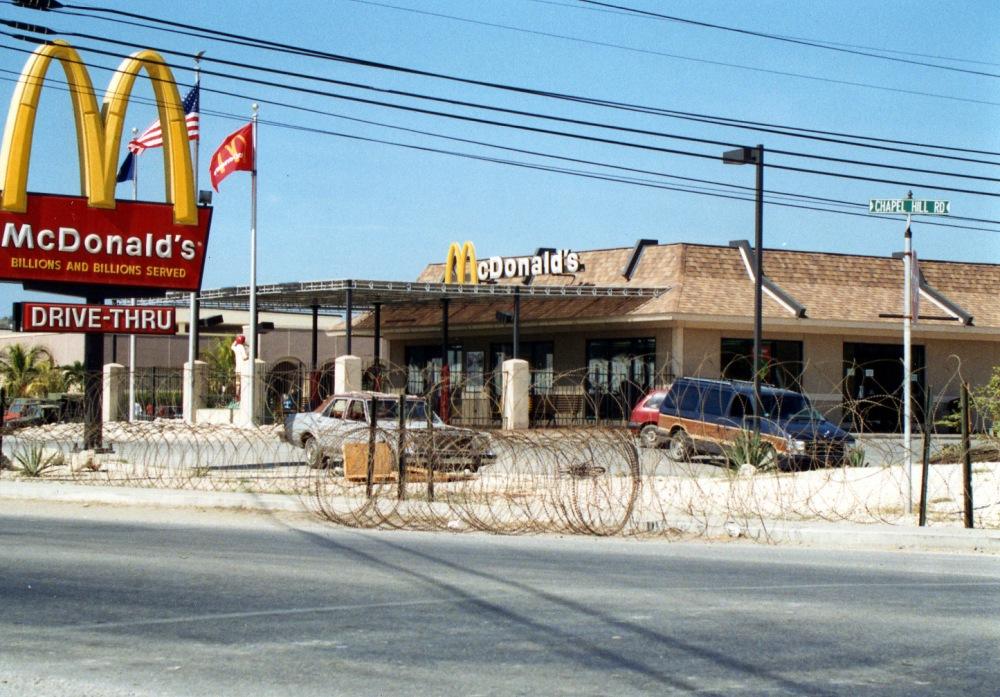 1994. Guantanamo Bay Naval Base has a McDonald's franchise during the Cuban-Haitian refugee crisis.jpg