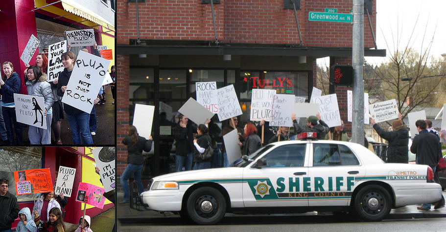 2008. Protest and Counter-protest of Pluto over Pluto de-planet controversy.jpg