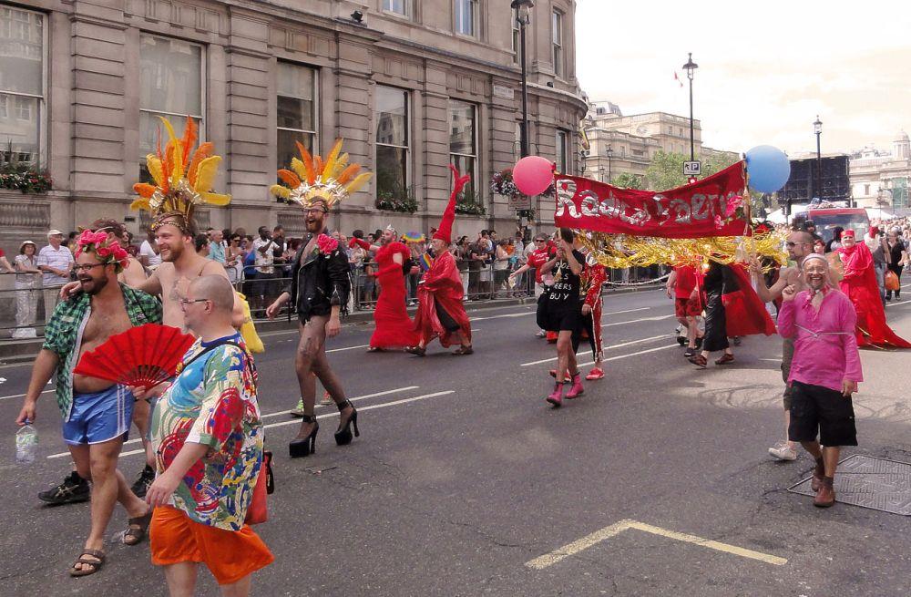 Radical Faeries with banner at 2010 London Gay Pride.jpg