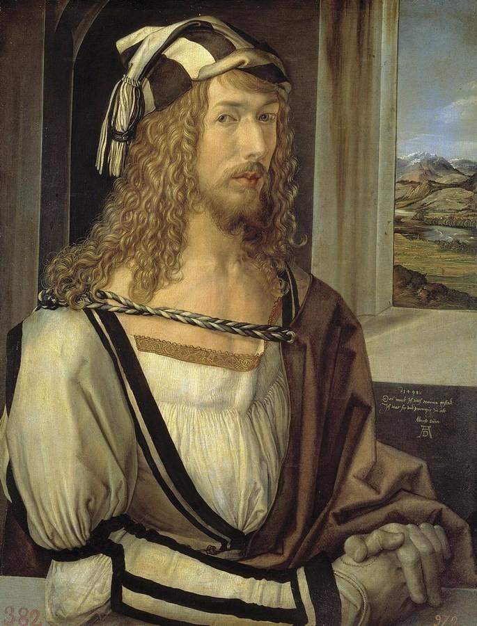 Автопортрет, 1498 р. (Прадо, Мадрид)