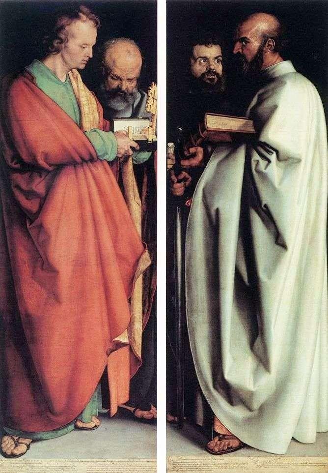 Чотири апостоли, 1526 р. (Стара пінакотека, Мюнхен)