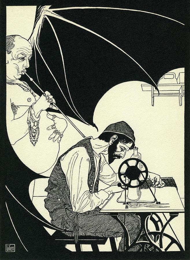 ephraim-moses-lilien-illustration-for-poem-on-the-sewing-machine-ephraim-moses-lilien